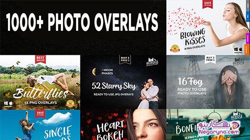 1000+ OVERLAYS تصویر فتوشاپ