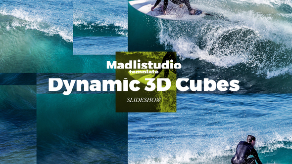 پروژه افترافکت اسلایدشو 3D مکعبی
