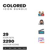 مجموعه ای بیش از ۲۲۰۰+ آیکون گرافیکی
