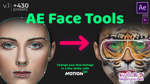 پروژه افتر افکت ابزار چهره
