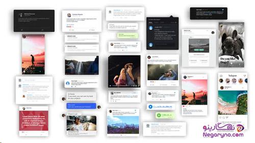پروژه افتر افکت پست های شبکه های اجتماعی