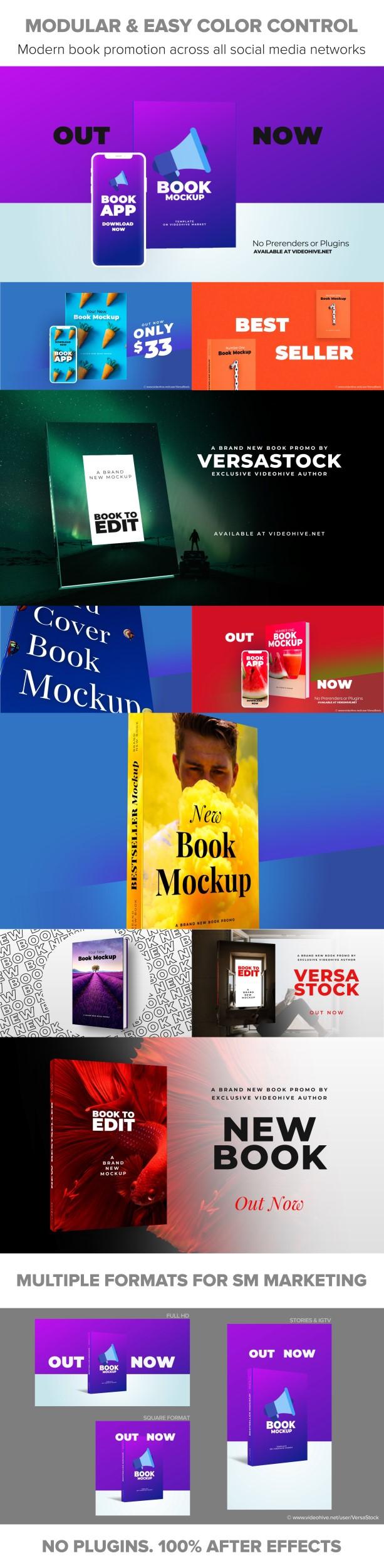 پروژه افتر افکت معرفی و تبلیغ کتاب
