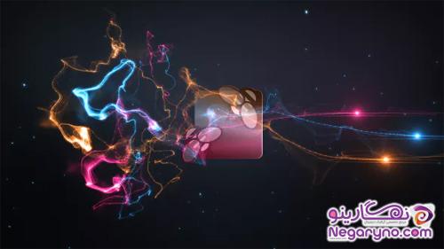پروژه افتر افکت نمایش لوگو نورهای رنگی