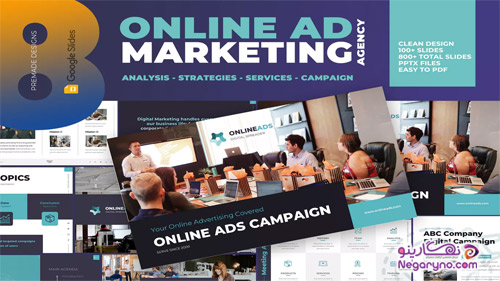قالب آماده پاور پوینت تبلیغات و بازاریابی