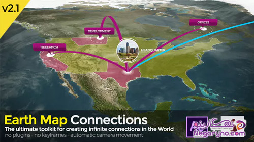Videohive - Earth Map Connections - V2.1
