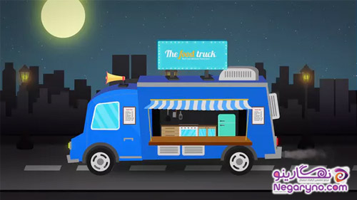 VideoHive Food Truck Logo Reveal