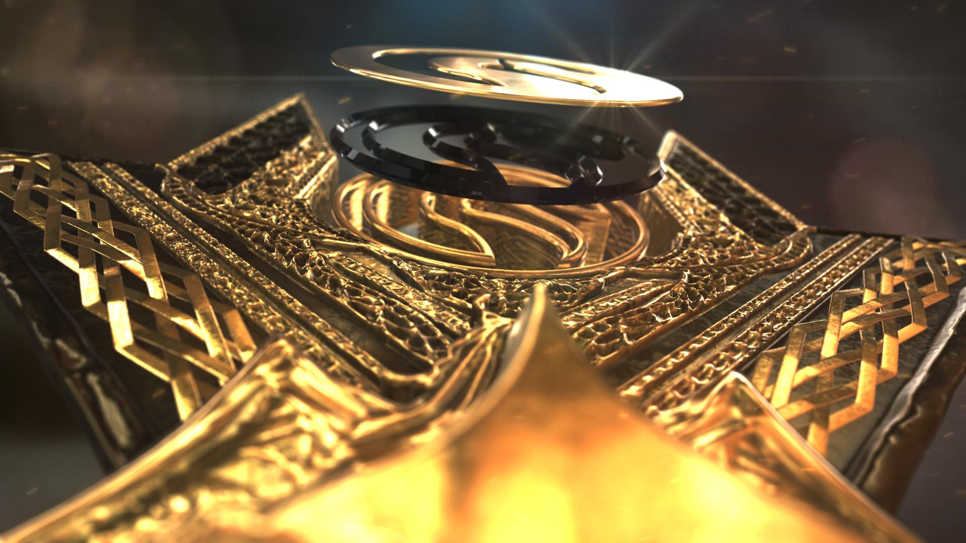 پروژه افتر افکت نمایش لوگوی طلایی3
