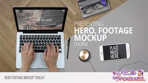 پروژه افتر افکت موکاپ لپ تاپ و موبایل