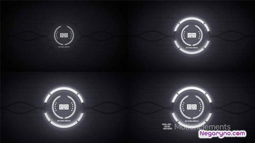 پروژه افتر افکت نمایش لوگو لامپ مهتابی
