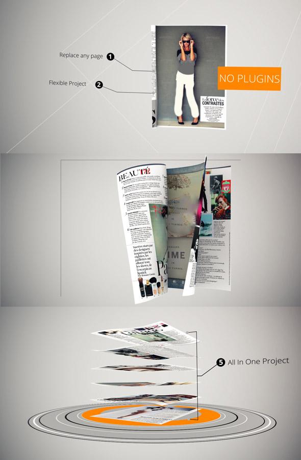 پروژه افتر افکت نمایش و تبلیغ مجله