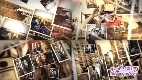 پروژه افتر افکت اسلایدشو تصاویر پارالاکس