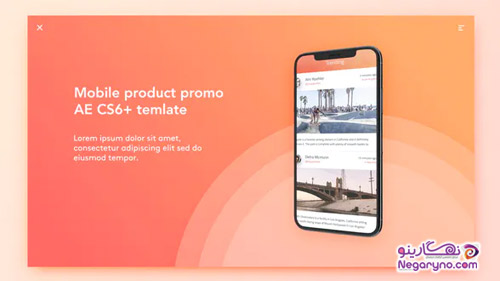 پروژه افتر افکت تبلیغ و معرفی اپلیکیشن