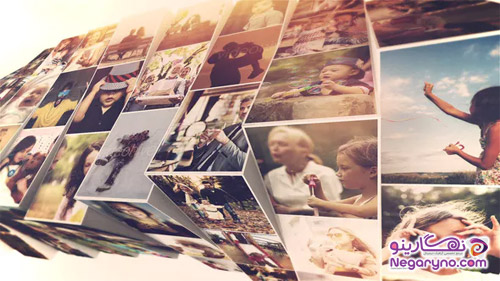 پروژه افتر افکت اسلایدشو موزاییکی تصاویر