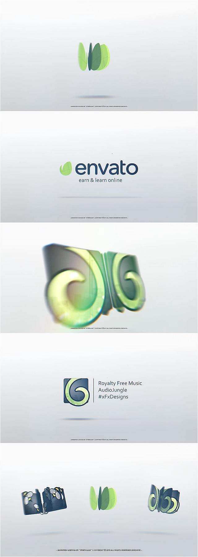 پروژه افتر افکت نمایش لوگو چرخشی