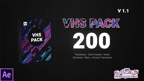 پروژه افتر افکت مجموعه افکت های VHS