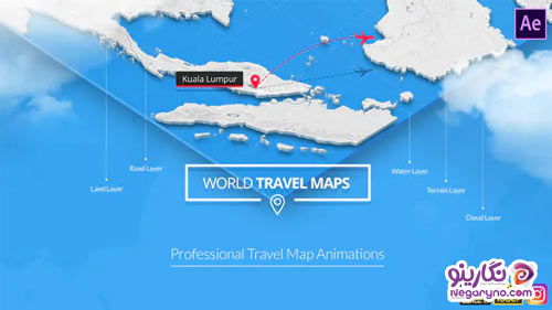 Videohive - World Travel Maps