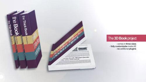 پروژه افتر افکت موکاپ کتاب سه بعدی