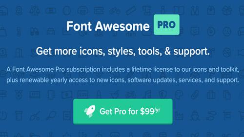 مجموعه فونت آیکون Font Awesome Pro