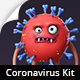 موشن گرافیک سه بعدی ویروس کرونا