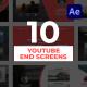 پروژه افتر افکت اسکرین پایانی یوتیوب