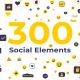پروژه پریمیر و افتر افکت  عناصر شبکه های اجتماعی