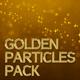 فوتیج پس زمینه متحرک ذرات طلایی
